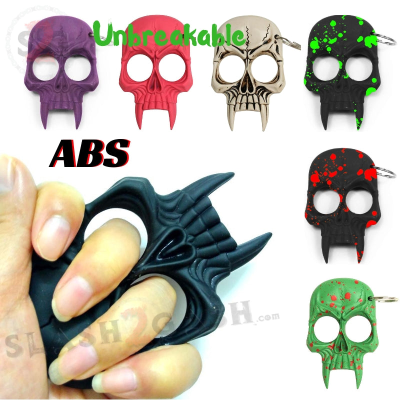 Demonic Skull Self Defense Keychain Abs Knuckles 8 Colors