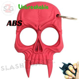 Demonic Skull Self Defense Keychain ABS Knuckles Unbreakable - Pink