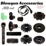 Blowgun Accessories .40 Caliber Spare Parts - Get LOADED! Dart Guards, Grips, Quivers, Sights, Slings, Couplers, Mouthpiece Accessory