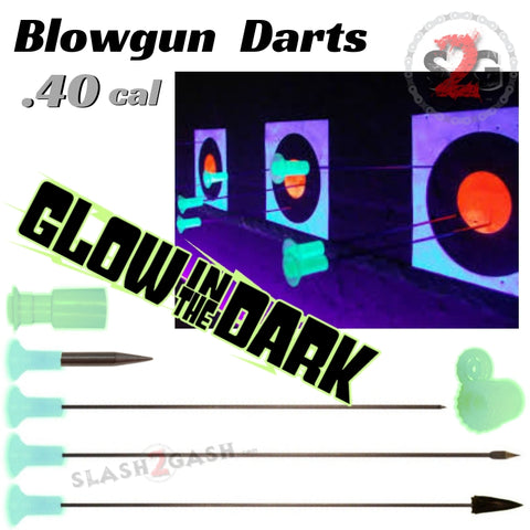 Blowgun Darts Glow In The Dark .40 Caliber Avenger - Broadhead, Spearpoint, Spike, Stunner, Target Dart 25 pack, 100 count/pieces