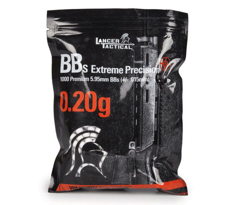 Lancer Tactical .20g Airsoft BBs Seamless Competition Grade Ammo - 1000 Round