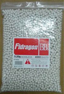 Fidragon Airsoft BBs .20g Seamless Competition Grade Super Precision Ammo - 4000 Round