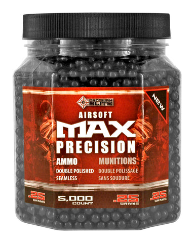 Crossman Elite 5000 count Jar .25g Precision Airsoft BB's - Black