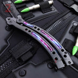 Black Galaxy CSGO Butterfly Knife TRAINER Dull Spring Latch PRACTICE CS:GO Counter Strike Balisong