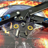 What are BUSHINGS? TheONE Butterfly Knife 440C Channel Balisong with Bushing System and Spring Latch - Slash2Gash S2G