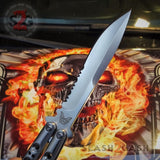 TheONE Butterfly Knife 440C Benchmade 42 Clone Serrated Balisong Channel Construction