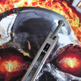 The ONE Butterfly Knife 42 Serrated Balisong Channel Construction Spring Latch w/ BUSHINGS