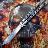 TheONE Butterfly Knife 440C Benchmade 47 Clone Mirror Finish Chrome Balisong Channel Construction