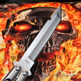 TheONE Butterfly Knife 440C Tanto Blue Holes Balisong Channel Construction Slash2Gash S2G
