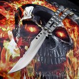 TheONE Butterfly Knife 440C Benchmade Clone Best Version Channel Construction Balisong Spring Latch - Tyrannosaurus Rex