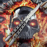 TheONE Butterfly Knife 440C Best Version Channel Construction Balisong Spring Latch - Tyrannosaurus Rex