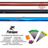 "Fidragon Blowguns .40 cal LOADED w/ 42 Darts - Black, Red, Blue 12"" 24"" 36 inch BEST VALUE"