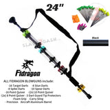 "Fidragon Blowguns .40 cal LOADED w/ 42 Darts - Black 24"" inch BEST VALUE"