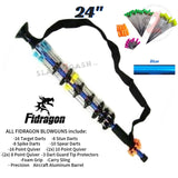"Fidragon 24"" Inch Blowgun .40 cal LOADED w/ 42 Darts - Blue - BEST VALUE"