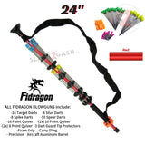 "Fidragon Blowguns .40 cal LOADED w/ 42 Darts - Red 24"" inch BEST VALUE"