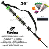 "Fidragon Blowguns .40 cal LOADED w/ 42 Darts - Black 36"" inch BEST VALUE"