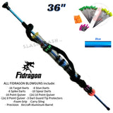 "Fidragon Blowguns .40 cal LOADED w/ 42 Darts - Blue 36"" inch BEST VALUE"
