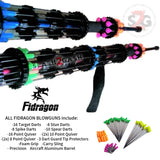 "Fidragon 24"" Inch Blowgun .40 cal LOADED w/ 42 Darts - Red - BEST VALUE"