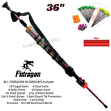 "Fidragon Blowguns .40 cal LOADED w/ 42 Darts - Red 36"" inch BEST VALUE"