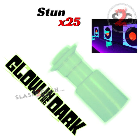 Safety Stunner Darts Thumpers .40 Cal Blowgun Ammo - Glow In The Dark x25