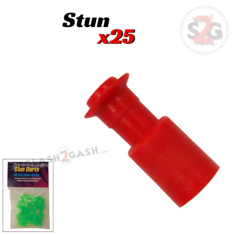 Stunner Darts Safety Thumpers .40 Caliber Blowgun Ammo - 25 Pack