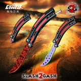 10 colors CSGO Butterfly Knife TRAINER Dull Spring Latch PRACTICE Balisong