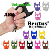 Brutus the Bulldog Self Defense Keychain ABS Knuckles - Unbreakable Punchy Puppy 12 colors