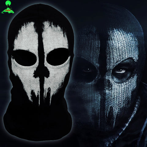COD Ghost Mask 5 Styles Superhero Balaclava Mens Ghost Skull Full Face Hood