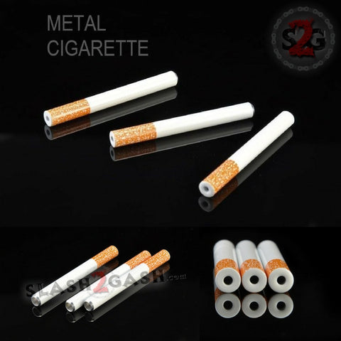 "Metal Cigarette One Hitter 2"" - 3"" Smoking Pipe"
