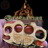 Constantine Knuckles Gold Holy Spiritus Paperweight Movie Replica Cross Buckle
