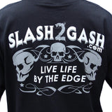 Slash2Gash Hot Leathers Bold Eagle Biker For Life Short Sleeve T-Shirt Custom S2G