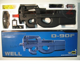 WELL D90F Airsoft Gun SMG (P90) Full Auto Electric AEG Rifle - Plastic Gearbox