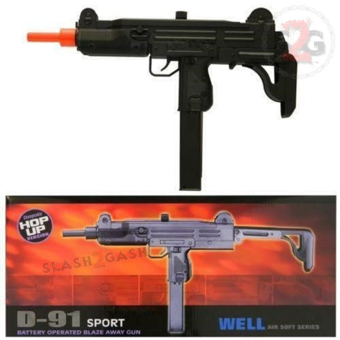 WELL D91 Airsoft Gun Electric UZI SMG Fully Automatic AEG