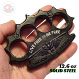 Black Knuckles Spiked Dalton Global Paperweight Irish Devil Steel Pointed Duster Buckle - Live Free or Die Free slash2gash S2G