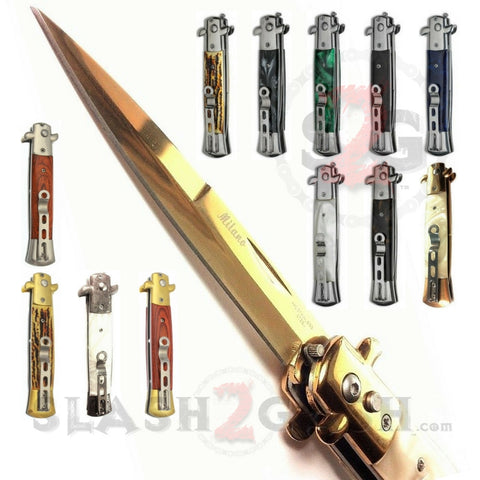 "Diablo Stiletto Automatic Knife Milano Switchblade 9"" - 12 colors"