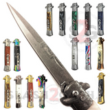 "Diablo Stiletto Knife Milano Automatic Switchblade 9"" - 17 colors"