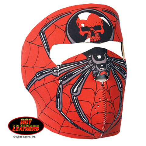 Hot Leathers Spider Neoprene Face Mask Black Widow Web Design