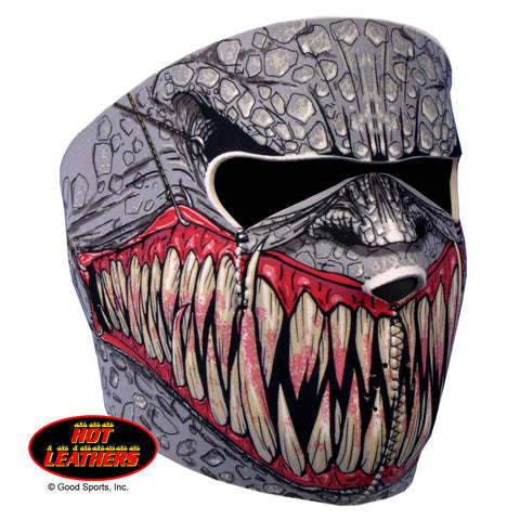 Hot Leathers Fang Face Neoprene Face Mask - Reptile Hooks & Fangs