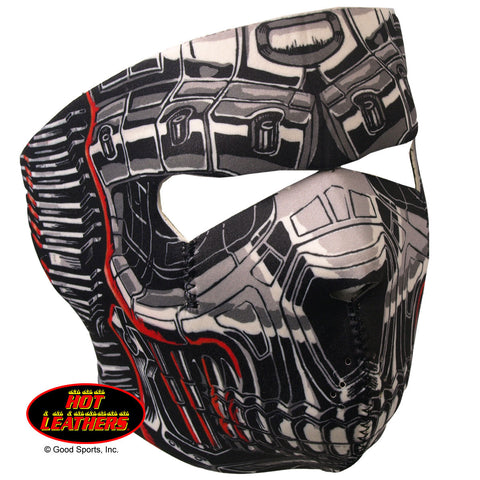 Hot Leathers Robo Skull Neoprene Face Mask Robot