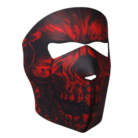 Hot Leathers Red Shredder Skull Neoprene Face Mask