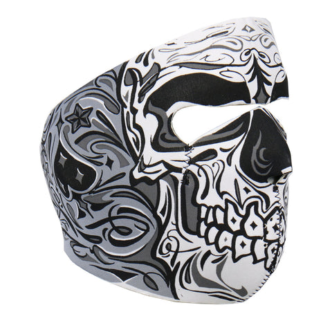 Hot Leathers Sugar Skull Neoprene Face Mask Muerte Day of Dead