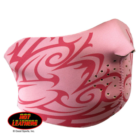 Hot Leathers Ladies Pink Tribal Neoprene 1/2 Face Mask