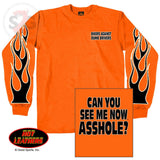 Hot Leathers Bikers Against Dumb Drivers Long Sleeve Neon Safety Shirt
