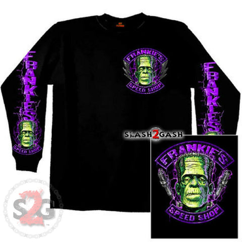 Hot Leathers Frankie's Speed Shop Long Sleeve Double Sided T-Shirt