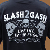 Hot Leathers Storm Clouds Eagle Motorcycle T-Shirt Custom Slash2Gash Biker Ride Forever