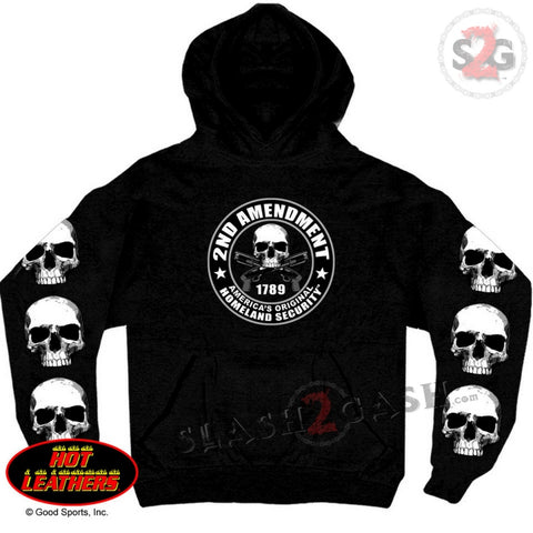 Hot Leathers 2nd Amendment Hooded Sweatshirt Pull Over Hoodie