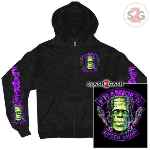 Hot Leathers Frankie's Speed Shop Zip-Up Hooded Sweat Shirt LIMITED
