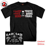 "2nd Amendment ""COME FOR MINE"" T-Shirt Gun Rights Skull ""BRING YOURS"" Slash2Gash S2G"
