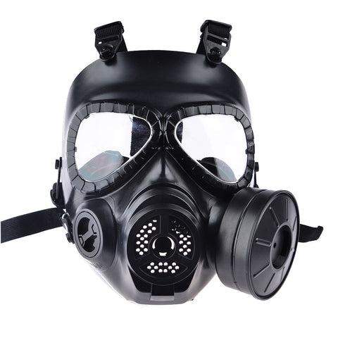 Airsoft Paintball Dummy Gas Mask with Fan for Cosplay Protection Halloween Evil Antivirus