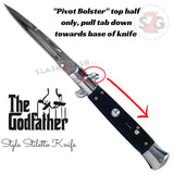 Godfather Stiletto Automatic Knife Classic Switchblade - Black